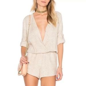 Pants - Cloth and Stone snakeskin romper Anthropologie